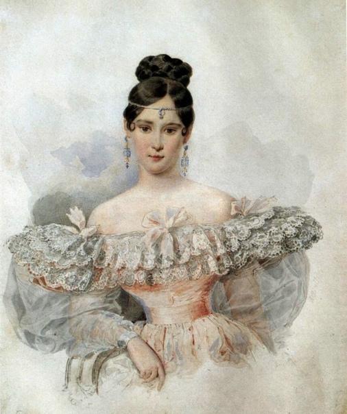 205 лет назад - 27 августа 1812 года - родилась Наталья Николаевна Гончарова, будущая супруга Пушкина