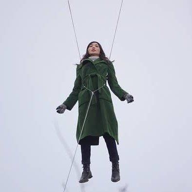 Кит Харрингтон и Джемма Чан на съёмках блокбастера «Вечные»