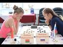Polina Petrusiova BLR Matrena Nogovitsyna RUS Women's World Draughts Championship 2019