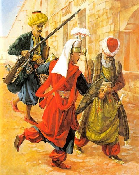 ЯНЫЧАРЫ. Часть 3 Часть 1 - 2 - янычар, как и вся армия султана, начинал марш на рассвете. В полдень войско останавливалось и разбивало лагерь. Обычно вперед высылался на разведку отряд легкой
