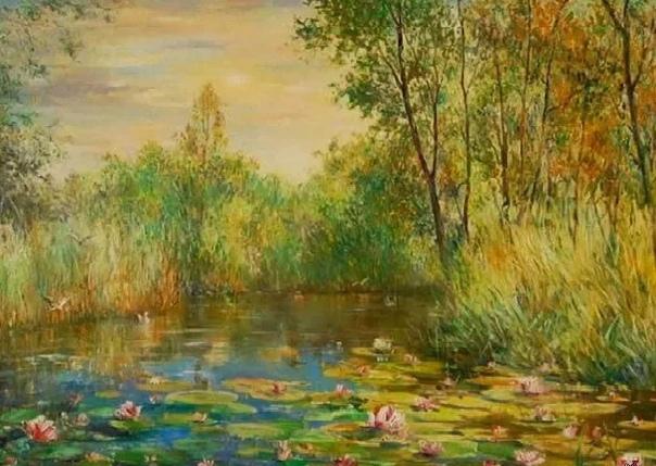 Немецкий художник Манфред Рапп создал свой неповторимый стиль написания пейзажей