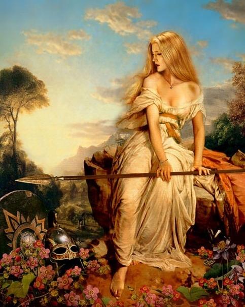 Кримхильда  героиня германского эпоса «Песнь о Нибелунгах», жена Зигфрида, после смерти героя ставшая женой гуннского короля Аттилы