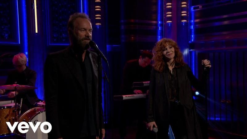 Mylène Farmer, Sting - Stolen Car (live at The Tonight Show)