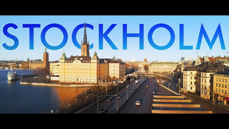 Stockholm Europe from a drone