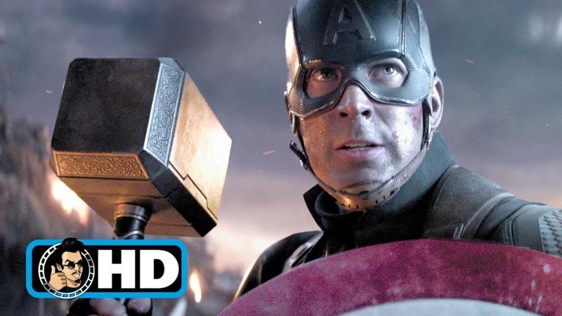 Cap Lifts Thor's Hammer Scene AVENGERS ENDGAME 2019