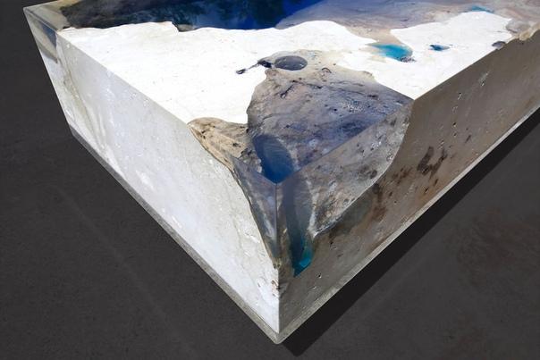 Столик «Звёздное море» море днём и звёзды ночью Пару лет назад Француз Александр Шапелен (Alexandre Chapelin) из компании создал серию из трех столешниц, объединенных общим названием «Lagoon