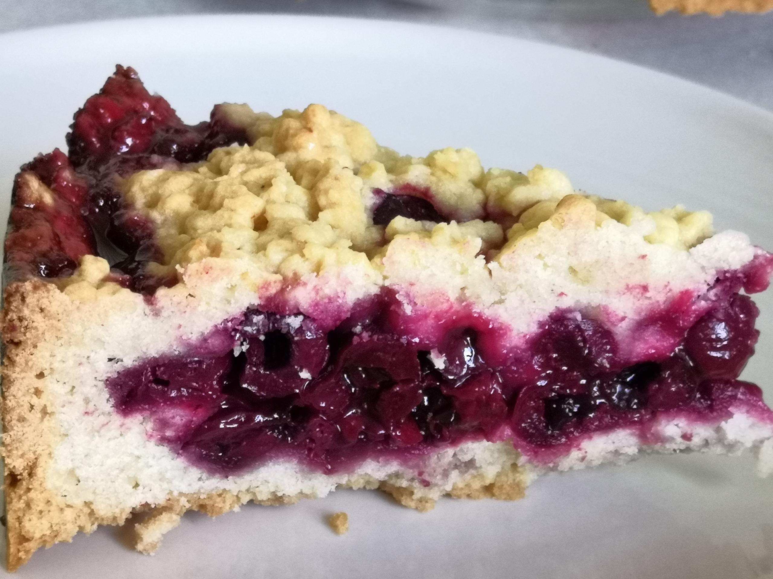 Тёртый вишневый пирог  U6LOqsOFLFU