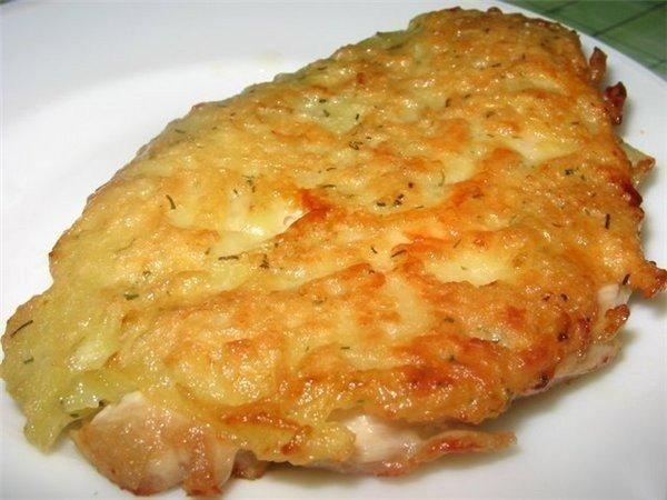 Куриные отбивные с сыром. Вкусное и нежное мясо!