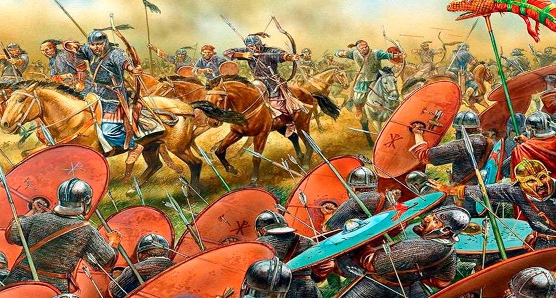 Атака гуннов на римлян