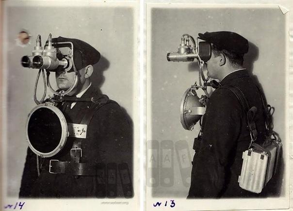 Футуристический прототип первых советских очков ночного видения, 1940-е годы