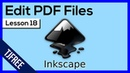 Inkscape Lesson 18 Import and Edit PDF Files