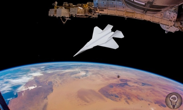Бумажный самолётик сброшенный с МКС сгорит в атмосфере или спланирует Запустить что-то с орбиты МКС на Землю не самая простая задача, как может показаться на первый взгляд. Средняя скорость