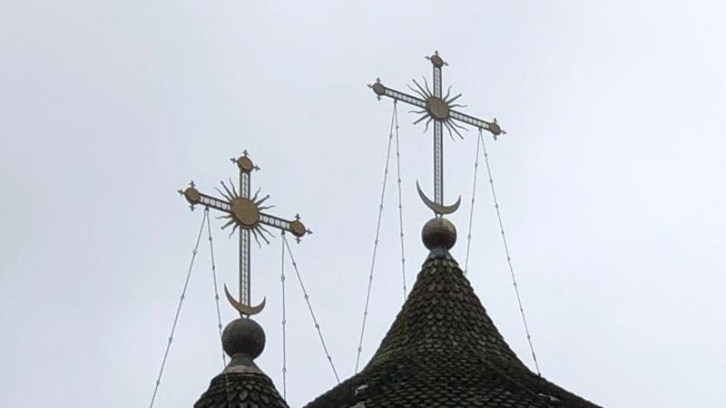 Солнечные кресты церкви Феодора Стратилата в Новгороде Познавательное ТВ Артём Войтенков