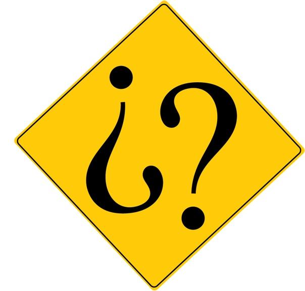В испанском языке вопросительное предложение сопровождается двумя вопросительными знаками: один стоит, как обычно, в конце предложения, а другой  в начале, причём в перевёрнутом виде