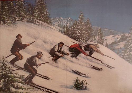 ИЗ ИСТОРИИ ГОРНЫХ ЛЫЖ. Часть 6. ГОРНЫЕ ЛЫЖИ В США В ЭПОХУ ЗОЛОТОЙ ЛИХОРАДКИ В 1854 году, всего через шесть лет после того как золото напало на Калифорнию, первая в истории Америки лыжная