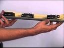 Sawbones demo for applying rail fixator to tibia