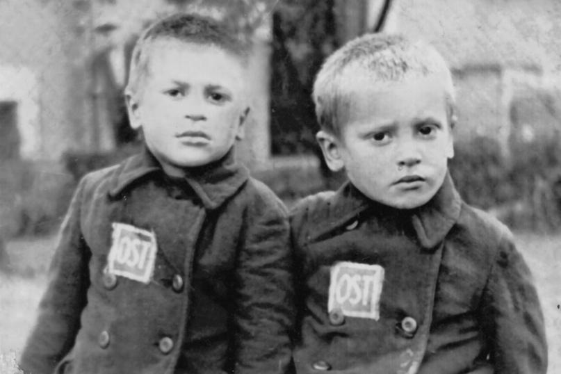 Толик и Алик — семилетние рабочие фашистского лагеря.