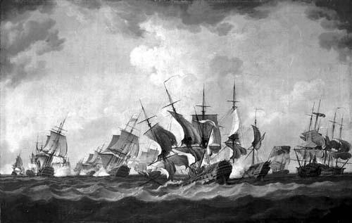 КИБЕРОНСКОЕ СРАЖЕНИЕ Вспыхнувшая в середине XVII-го столетия Семилетняя война опять поставила вопрос о владении морем между Францией и Великобританией. Через 3 года с начала Семилетней войны