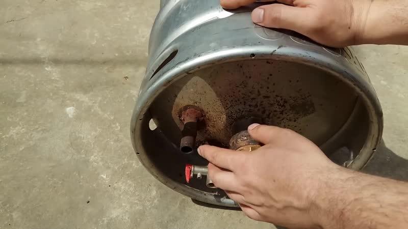 Самодельный водонагреватель из пивной кеги