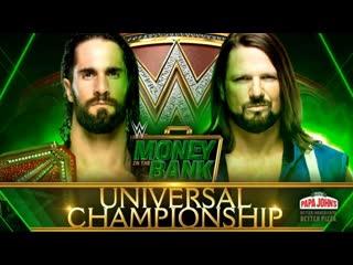 WWE Money in the Bank 2019 AJ Styles vs Seth Rollins highlights