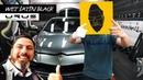 Nick Zammeti's Lamborghini Urus wrapped Wet Satin Black