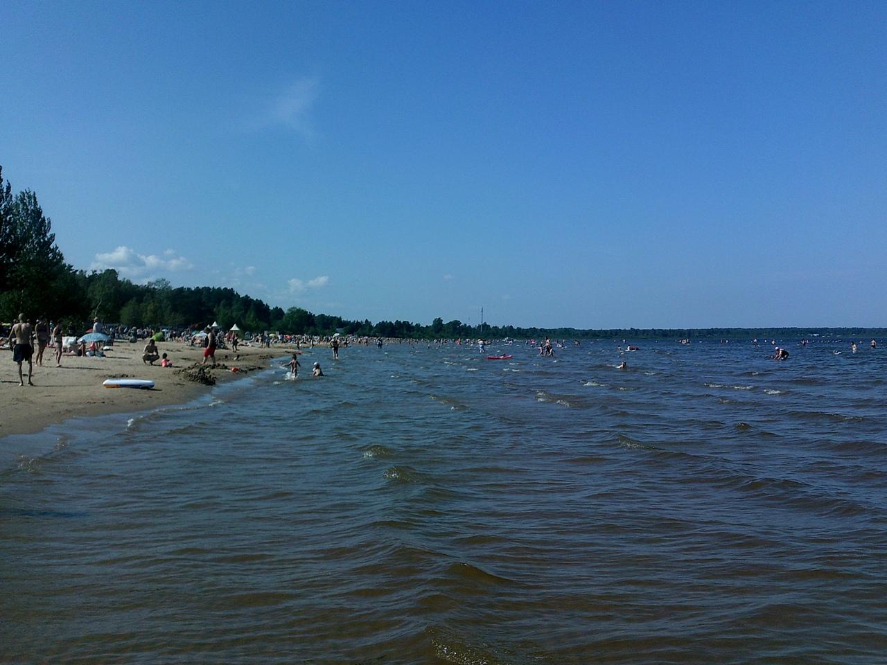 Ладожское озеро в Коккорево - курортный рай. И 101-я дальнобойная батарея, защищавшая Ленинград