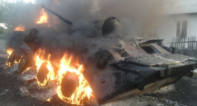 Уничтожение вражеских БМП на Донбассе показали на видео