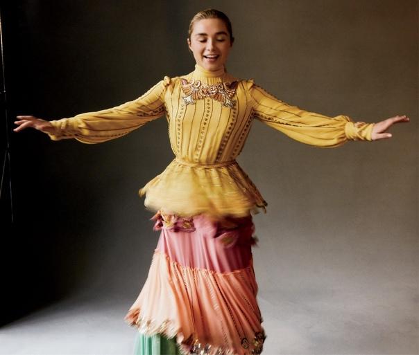 Звезда «Солнцестояния» и «Маленьких женщин» Флоренс Пью в объективе Vogue