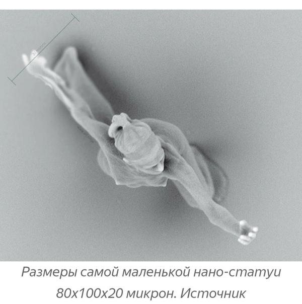 Самая маленькая статуя человека в мире, которая была создана с помощью квантовой физики
