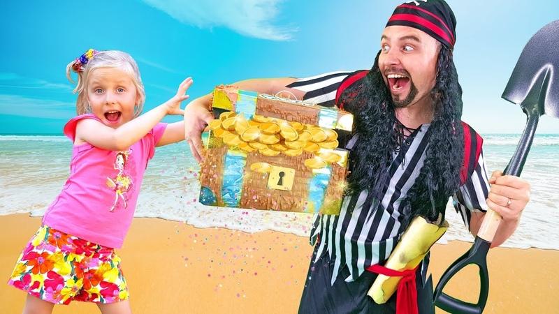Alisa Pretend Play Pirate Treasures . Adventure for Kids