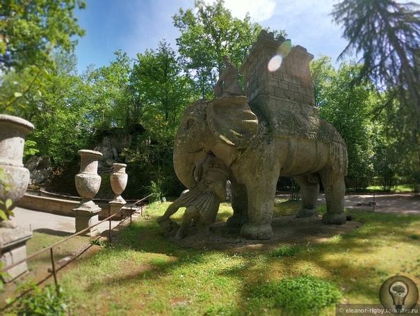 Возвращение в Тоскану. По дороге в Тоскану через Лацио. Парк Монстров Нагулявшись вволю среди фонтанов виллы Ланте, мы из мира одних старых замшелых камней переместились в мир других каменных