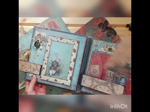 Интерактивный альбом Алиса в стране чудес СкрапМир