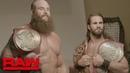 Braun Strowman Seth Rollins first photo shoot as Raw Tag Team Champions: Exclusive, Aug. 19, 2019