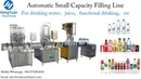 2000BPH Drinking water bottle rinsing washing filling capping machine production line