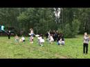 Выступление команды Чирлидинга в рамках шоу БОЛЬШАЯ ИГРА в лагере «Росинка