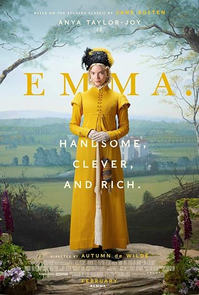 Постер и тизер экранизации романа Джейн Остин «Э́мма».