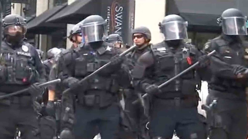 At least 13 arrested in protests in U.S. state of Oregon