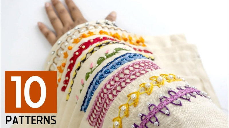 10 Hand Embroidery Border Designs Stitching Ideas for Dress