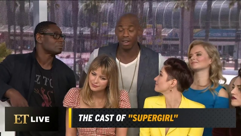 SDCC 2019 Supergirl cast ET Live interview