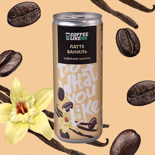 Кофейные напитки: Латте ванильный