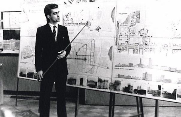 Вячeслав Бутусов, лидер Nautilus Pompilius, защищает диплом в Свердловском aрхитектурном