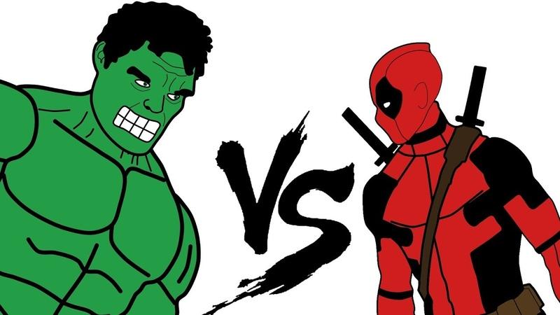 ХАЛК vs ДЭДПУЛ | (Супергеройская битва) Deadpool vs Hulk (Superhero Battle)