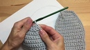 Вяжем крючком вязаная подошва для тапочек