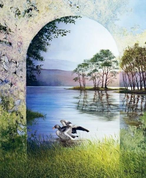 Нил Саймон - британский художник, пишет  картины маслом