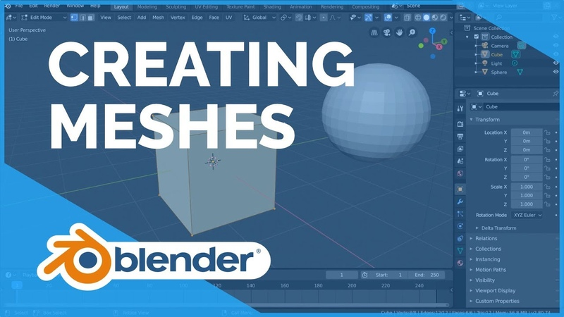 Creating Meshes - Blender 2.80 Fundamentals