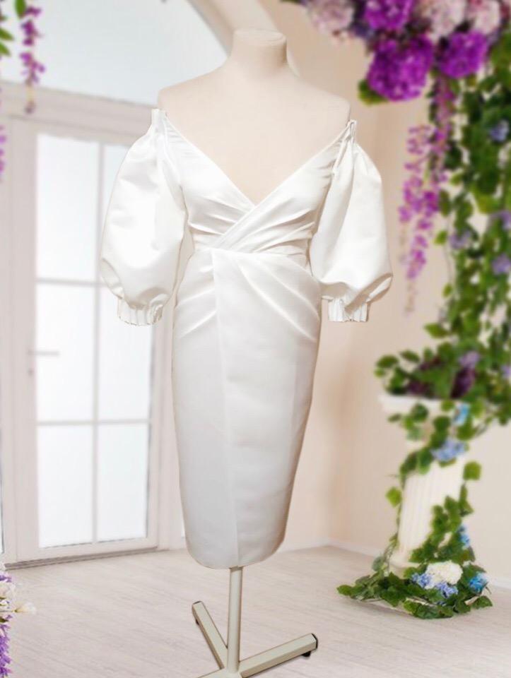 Белое платье, интересная задумка