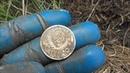 Нашли монеты за пару часов на выбитом поле.