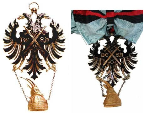 ОРДЕН БЕСА (ОРДЕН ЗА ВЕРНОСТЬ ОТЕЧЕСТВУ) Орден Беса (Орден за верность Отечеству) был учрежден в 1926 году. Он был первоначально введен королем Албании Ахмедом Зогу I для награждения сторонников