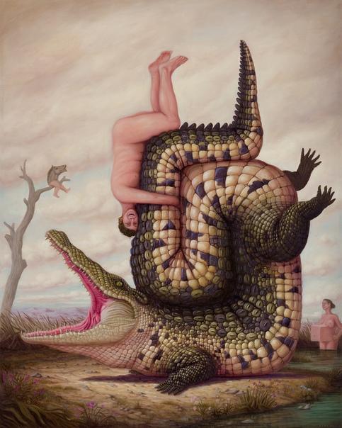 Странное: бегемоты, кони и другие животные стоят на головах, языках и рогах Стремясь перевернуть относительно узкое видение мира с ног на голову, Бруно Понтироли французский современный художник