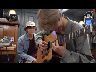 [bangtan bomb] let's play guitar!